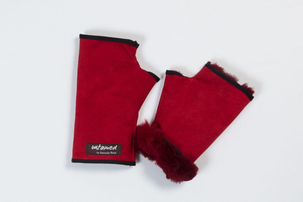 Picture of Fur Cuffed Fingerless Glove