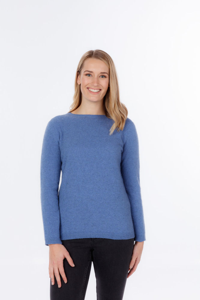 Picture of Crew Neck Plain Knit Sweater