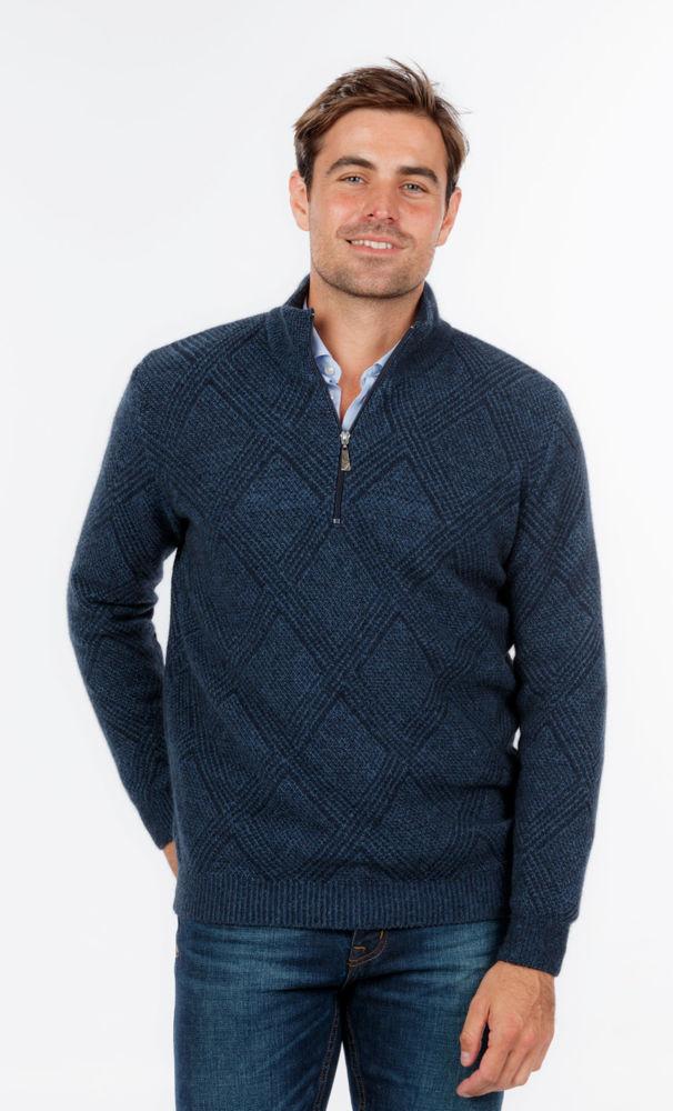 Picture of Basketweave Half Zip Sweater