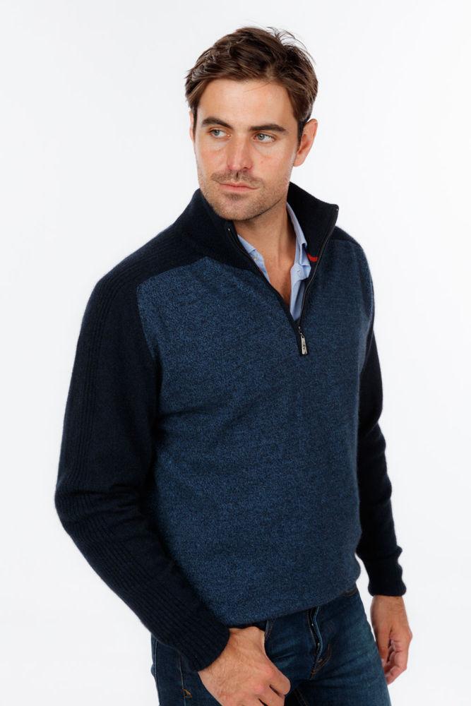 Picture of Marl Half Zip Sweater